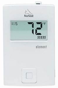 Nuheat Thermostat Programming Instructions