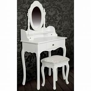 Meuble Coiffeuse Avec Miroir Pas Cher Achat Table De