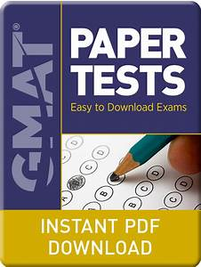 Gmat Paper Tests Pdf Download
