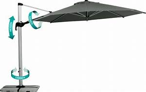 Sonnenschirm 350 Mit Kurbel : sonnenschirm best madeira 350 ampelschirm in 3 dimensionen verstellbar verstellbar in 3 ~ Watch28wear.com Haus und Dekorationen
