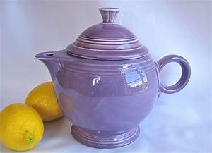 Fiestaware Color Chart Vintage Fiesta Teapot Lilac Retired Color Pristine