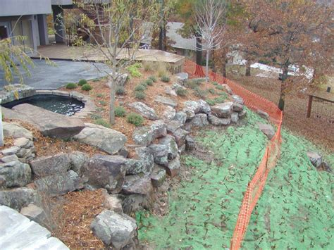 landscaping on a hill hill landscaping redbud design