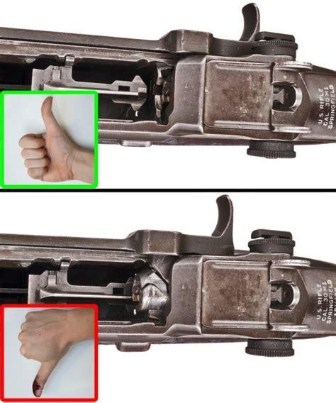 horrifying experiment  garand thumb  firearm