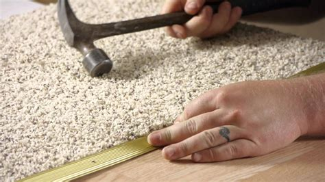 how to install carpet how to install hardwood to carpet transition pieces carpet installation maintenance youtube