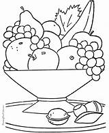 Fruit Coloring Pages Printable Colouring Bowl sketch template