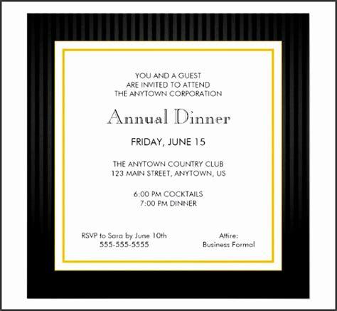 8 Annual Dinner Invitation Card Template