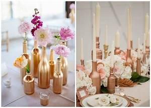 Deco Couleur Cuivre : bouteilles peintes couleur cuivre d coration de table de ~ Teatrodelosmanantiales.com Idées de Décoration