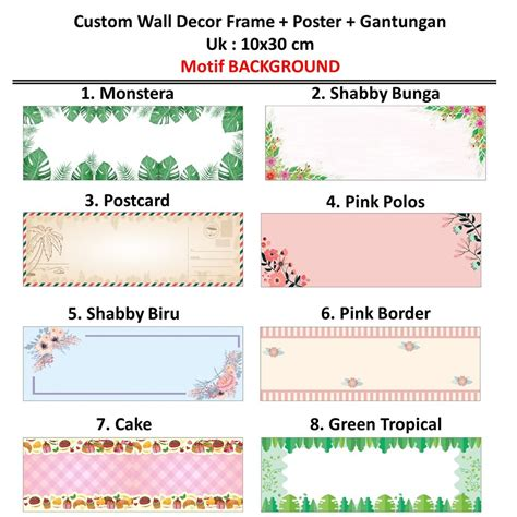 jual custom warna background tulisan wall decor