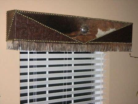 Cowhide Valance - cowhide cornice decor ideas kitchen curtains valances