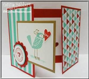 Love You More tri fold card Valentine Connie Babbert