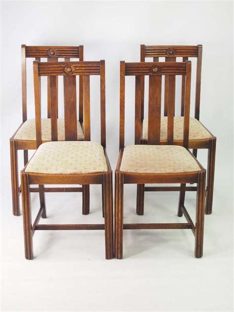 vintage oak dining chairs set 4 vintage deco oak dining chairs 6852