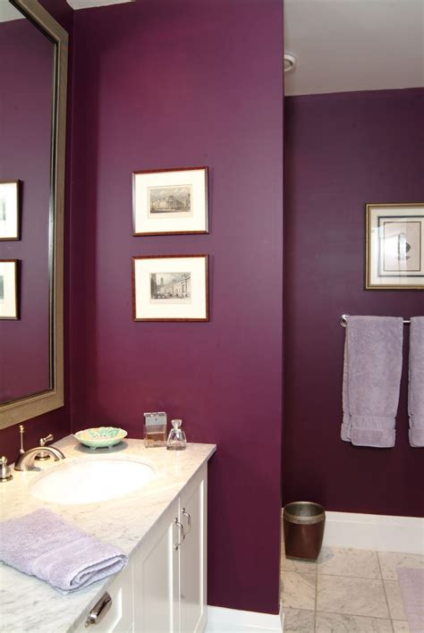 Color For Bathroom by Plum Purple Bathroom From Interior Design Project By