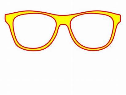 Glasses Yellow Clipart Sunglasses Clip Frame Svg