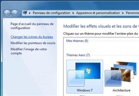 r uire les icones du bureau bureau icônes et fenêtres windows 7 aidewindows