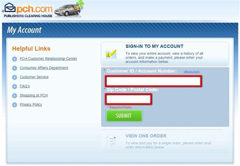 pch phone number how to pay your pch bill using myaccount pch