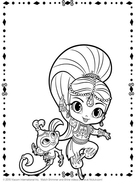 Coloring Free by Shimmer And Shine Coloring Pages Free Printable Shimmer