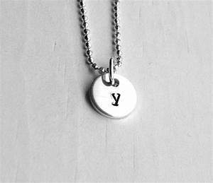 tiny initial necklace letter y pendant personalized With letter y necklace