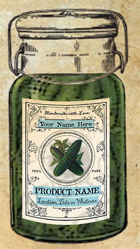 pickles labels pickle canning labels  pickle tags