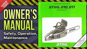 33 Stihl Chainsaw 011 Avt Parts Diagram