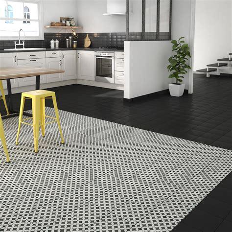 carrelage noir et blanc cuisine carrelage sol et mur noir blanc effet ciment gatsby l 20 x