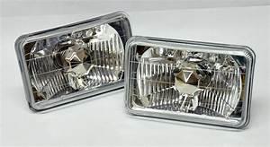 4x6 U0026quot  Halogen Semi Sealed H4 Crystal Clear Headlight
