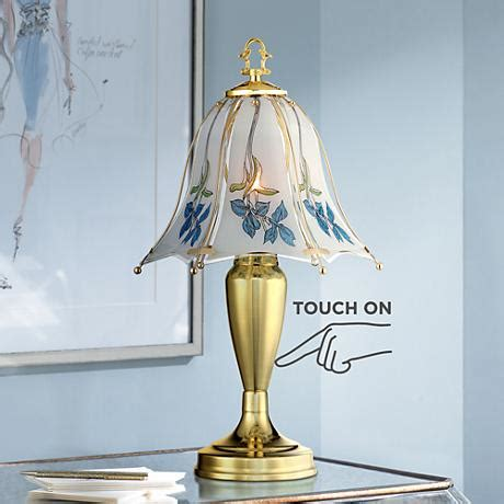 blue flower touch l esmont blue flower shade touch table l 6c406 www