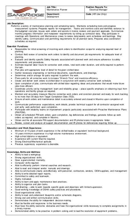 Facilities Manager Resume Pdf by Maintenance Description Building Maintenance Resume Attractive Design Building