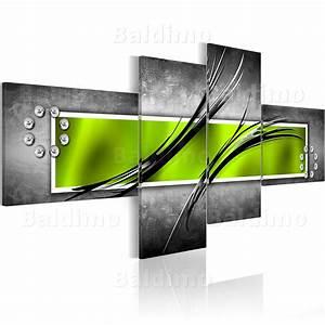 Wandbilder Grau Weiss : leinwand bilder xxl fertig aufgespannt bild abstrakt gr n rot violett 051472 ebay ~ Sanjose-hotels-ca.com Haus und Dekorationen
