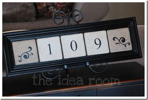 home address number plates  idea room