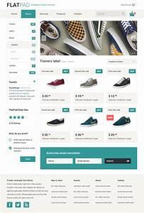 FlatPad Online Shop PSD template by Repix Design, via