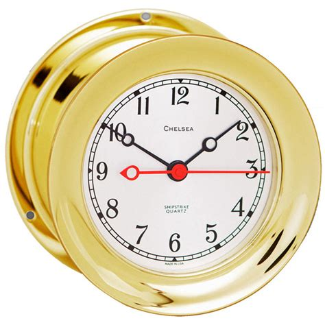 chelsea clock shipstrike series brass clock west marine