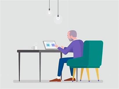 Office Data Entry Dribbble Animation Animated Icon