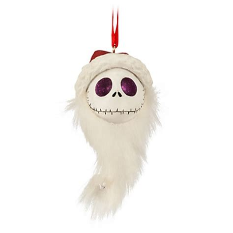 disney christmas ornament santa jack skellington head