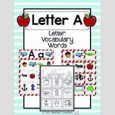 Letter A Vocabulary Cards By The Tutu Teacher  Teachers Pay Teachers