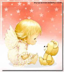 free animated baby angel gifs | glitter baby angels photo ...
