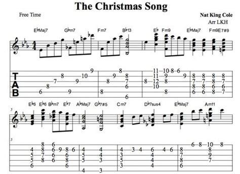 The Christmas Song Guitar Chords • Chord Melody, Tab