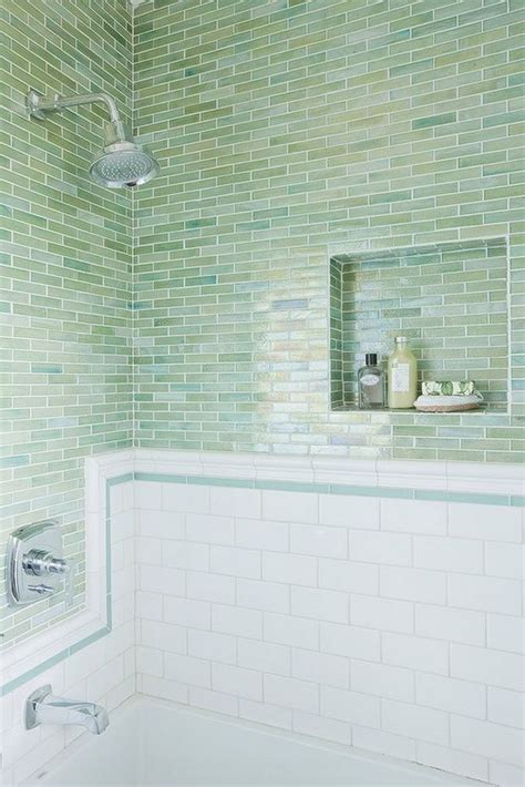 green subway tile 33 chic subway tiles ideas for bathrooms digsdigs