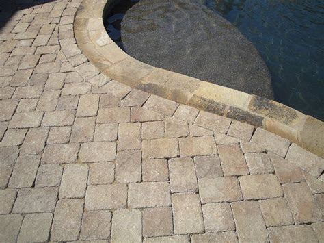 pavers venetian stone color mocha tumbled  images