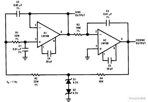 Low Frequency Sine Wave Generator Orthogonal Output