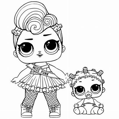 Lol Coloring Pages Doll Miss Punk Printable