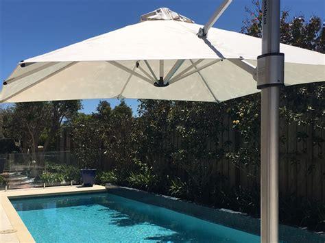 poolsider cantilever umbrellas perth awning republic