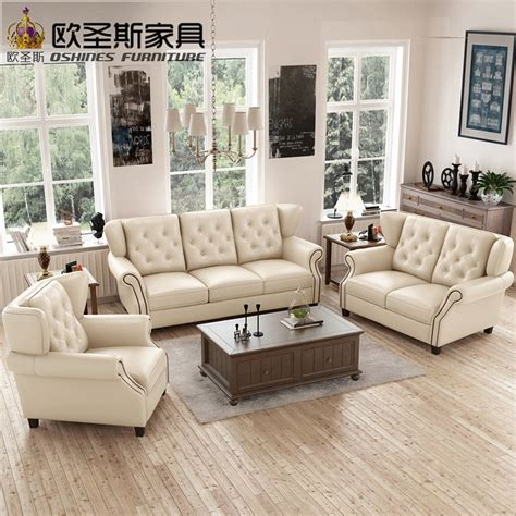 latest sofa set designs  seater american style chesterfield  antique furniture vintage brown