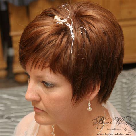 coiffure mariage cheveux court accessoire coiffure mariage pour cheveux courts bijoux volutes