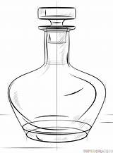 Bottle Draw Drawing Step Line Drawings Realistic Beer Glass Flask Tutorials Basic Supercoloring Techniques Sketching Pencil Tutorial Getdrawings Heel Rope sketch template