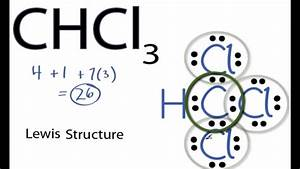 Chcl3 Lewis Structure  How To Draw The Lewis Structure For