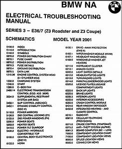 2001 Bmw Z3  Roadster  Coupe Electrical Troubleshooting Manual Original