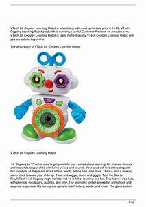 Vtech Lil U2019 Cogsley Learning Robot Discount By Le Trung Nghia