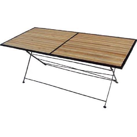 table pliante bois et m 233 tal achat vente table de jardin table pliante bois et m 233 tal cdiscount