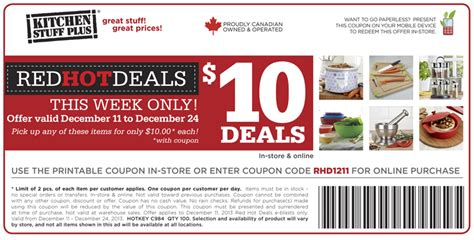 Kitchen On Coupon by Kitchen Stuff Plus Coupon Code Printable Coupon For 10