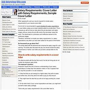 how to include salary requirement in cover letter - cover letters resume advice pearltrees